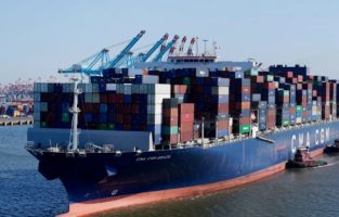 Take a look at the record-breaking port congestion as 70 hulking cargo ships park off the LA coast